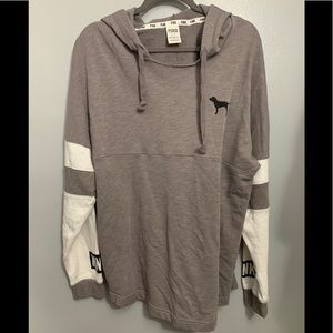Victoria's Secret pink light weight pull over